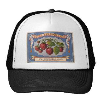 Vintage Ad for Fresh Strawberries circa 1868 Trucker Hat