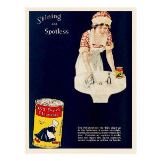 Vintage Ad for Old Dutch Cleanser Postcard
