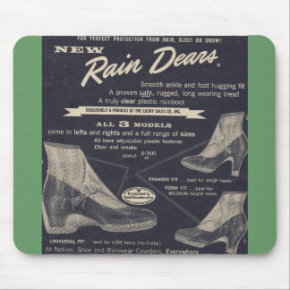 Vintage Ad for Rain Dears (plastic boots) - Fab Mouse Pad