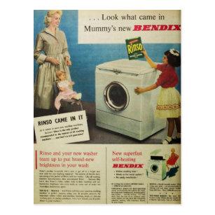 Vintage Postcard Clothesline Laundry Gift Tags