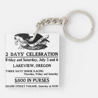 Vintage Ad Fourth of July 4th Independence Day Keychain