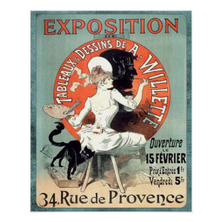 Vintage Ad French Artist Exhibition Poster