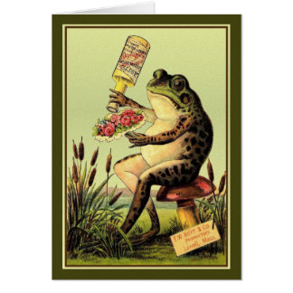 Vintage Ad - Frog Perfumes a Bouquet, Card