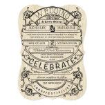 Vintage Ad Modern Typography Wedding Custom Invite