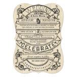 "Vintage Ad Modern Typography Wedding 5"" X 7"" Invitation Card"
