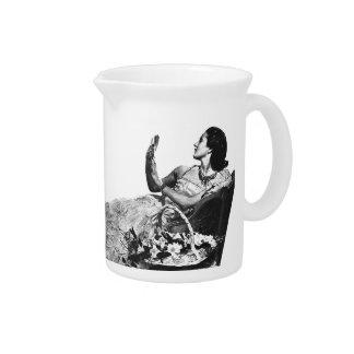 Vintage Ad   Porcelain Beverage Pitcher