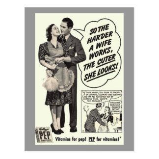 vintage ad postcard
