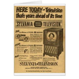 Vintage ad poster: Sylvania television 1950s Cards