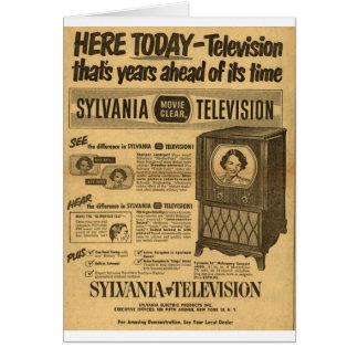 Vintage ad poster: Sylvania television 1950s Card