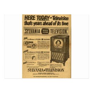 Vintage ad poster: Sylvania television 1950s Postcard