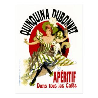 vintage Ad - Quinquina Dubonnet - Jules Cheret Postcard