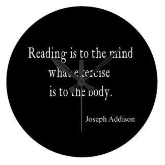 Vintage Addison Reading Mind Inspirational Quote Wallclocks