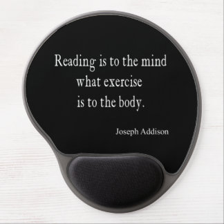 Vintage Addison Reading Mind Inspirational Quote Gel Mouse Pad