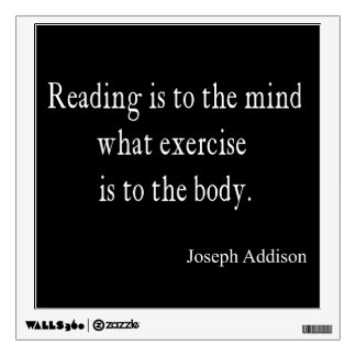 Vintage Addison Reading Mind Inspirational Quote Wall Graphic