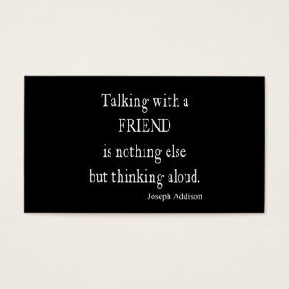 Vintage Addison Talking w Friend Friendship Quote Business Card