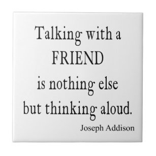 Friendship Quote Ceramic Tiles | Zazzle