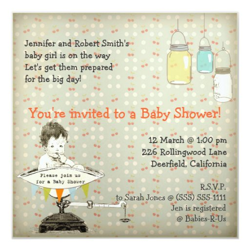 vintage adorable baby shower custom invitations zazzle