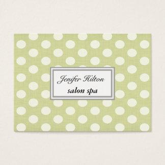 Vintage adorable cheerful polka dots business card