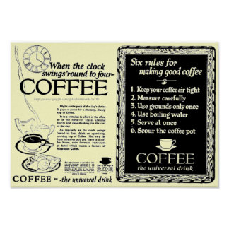 Vintage ads on canned Coffee brewing -1921 Posters