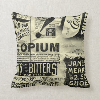 Vintage Ads Pillow