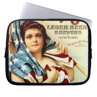 vintage adv.american flag laptop sleeve