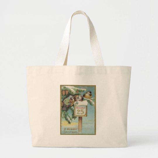 Vintage Advent Calendar Large Tote Bag