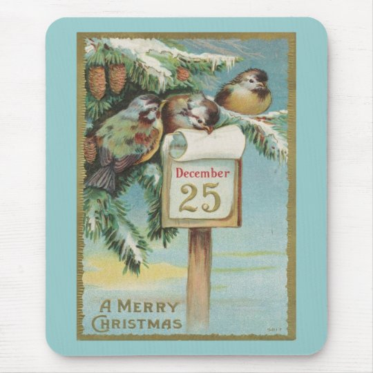Vintage Advent Calendar Mouse Pad