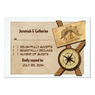 "Vintage Adventure Wedding Response Card 3.5"" X 5"" Invitation Card"