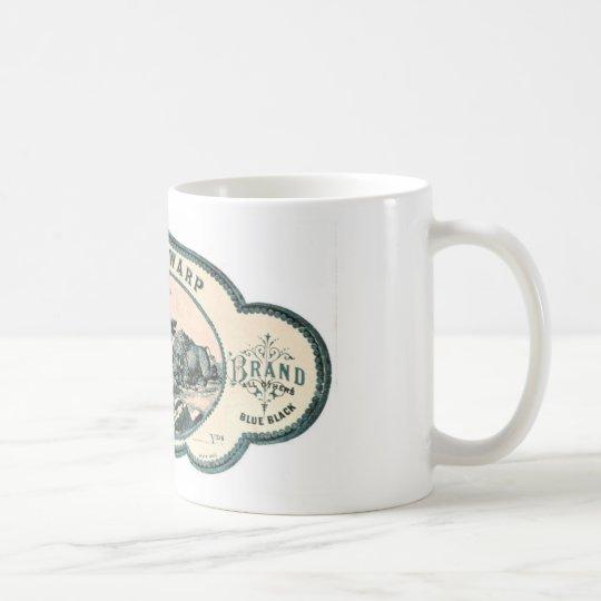 Vintage advert: Bison chasing old tandem bicycle Coffee Mug