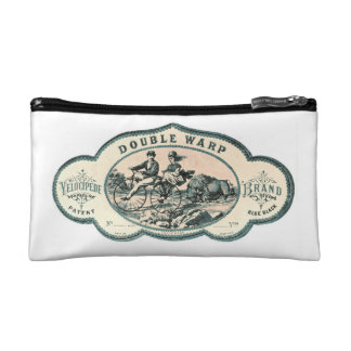 Vintage advert: Bison chasing old tandem bicycle Cosmetic Bag