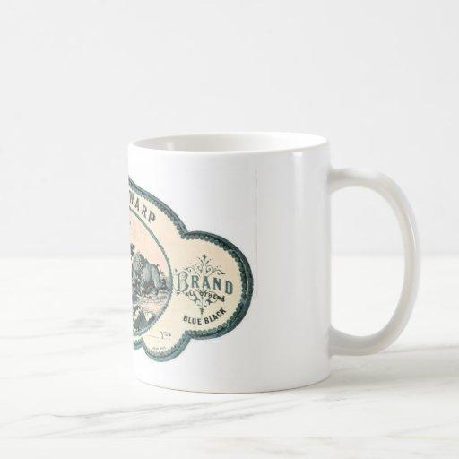 Vintage advert: Bison chasing old tandem bicycle Coffee Mugs
