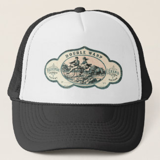 Vintage advert: Bison chasing old tandem bicycle Trucker Hat