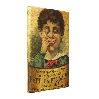 Vintage Advertisement - Eye Salve Canvas Print