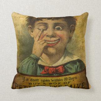 Vintage Advertisement - Eye Salve Pillow