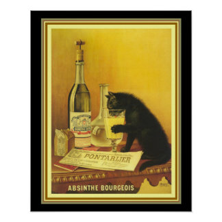 Vintage Advertisement for Absinthe Bourgeois Poster