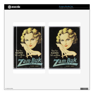 Vintage Advertisement Hand Cream Woman Blond Hair Kindle Fire Decals