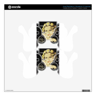 Vintage Advertisement Hand Cream Woman Blond Hair PS3 Controller Skins