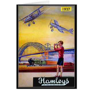 Vintage Advertisement: Hanleys Toy Airplane Card