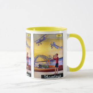 Vintage Advertisement: Hanleys Toy Airplane Mug