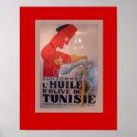 Vintage Advertisement, L'Huile d'Olive de Tunisie Poster