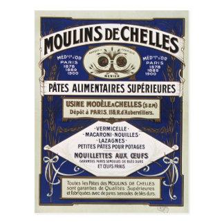 Vintage Advertisement Moulins de Chelles Paris Postcard