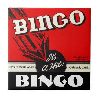 Vintage Advertising Bingo Beverages Red Tile