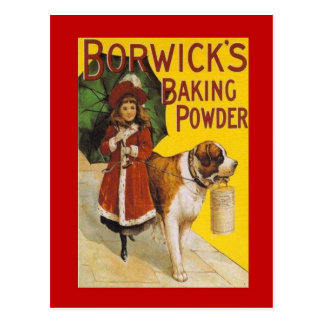 Vintage advertising, Borwick's Baking Powder Postcard