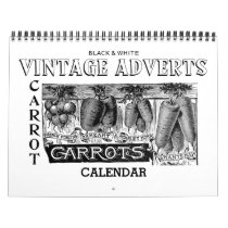 Vintage advertising calendar in black and white