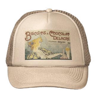 Vintage Advertising Chocoloate Art Nouveau Hats