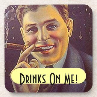 Vintage Advertising Coasters Cigar Bar Smoking
