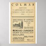Vintage advertising, Colmar, Alsace 2 Poster