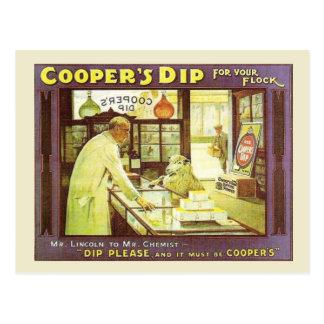 Vintage advertising, Cooper's Dip Postcard