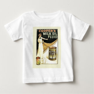 Vintage advertising, Cooper's milk oil fluid Baby T-Shirt