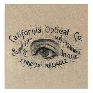 Vintage Advertising Eye Optical Acrylic Print